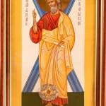 Икона апостола Андрея Первозванного с частицей его мощей