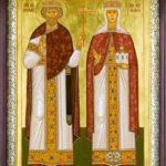 Равноапп. кн. Владимир и кн. Ольга (с частицей ее мощей).